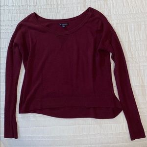 MAROON AMERICAN EAGLE CROPPED SWEATER